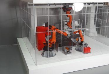 Interaktiver Mensch-Roboter Arbeitsraum